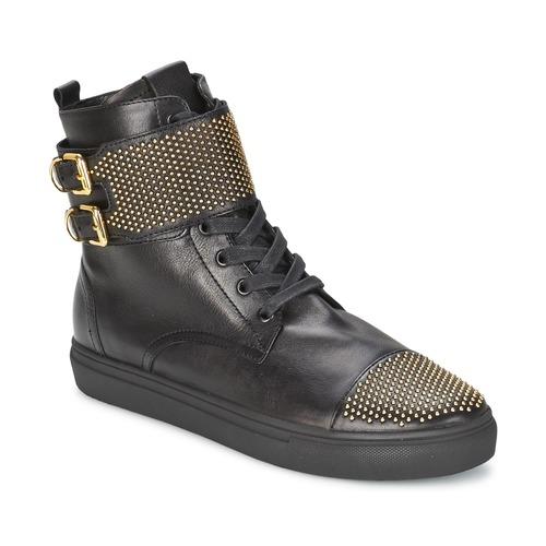 Chaussures Femme Baskets montantes Kennel + Schmenger URZI Noir / Or