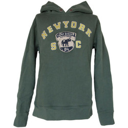 Sweats Scotch & Soda - Sweat à capuche en jersey molleton vert foncé Scotch Shrunk 1