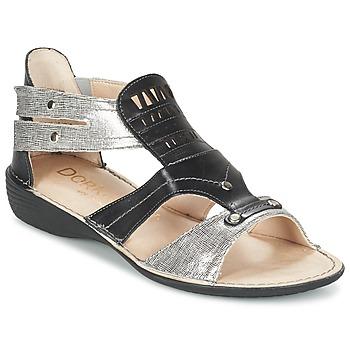 Chaussures Femme Sandales et Nu-pieds Dorking ODA Noir / Argent