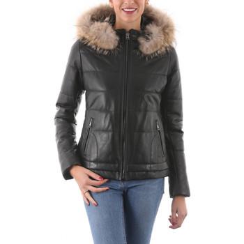 Vêtements Femme Vestes en cuir / synthétiques Giorgio Israa Noir Noir