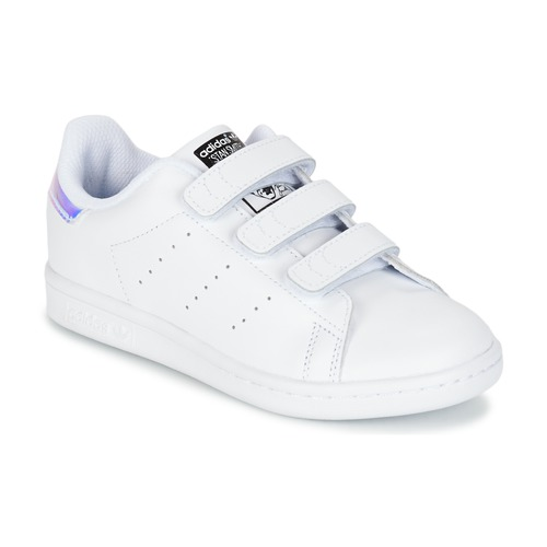 new concept 8a272 bee79 Chaussures Fille Baskets basses adidas Originals STAN SMITH CF C Blanc