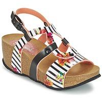 Chaussures Femme Sandales et Nu-pieds Desigual BIO 9 FLORES Noir / Blanc / Fleuri