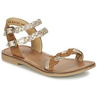 Chaussures Fille Sandales et Nu-pieds Shwik LAZAR WOWO Camel / Doré