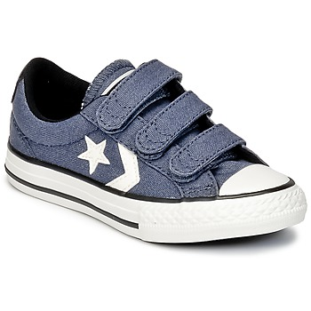 Chaussures Garçon Baskets basses Converse STAR PLAYER 3V VINTAGE CANVAS OX Bleu / Blanc