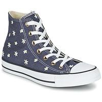 Chaussures Femme Baskets montantes Converse CHUCK TAYLOR ALL STAR DENIM FLORAL HI Marine / Jaune / Blanc