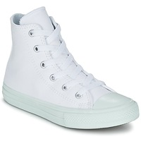 Chaussures Fille Baskets montantes Converse CHUCK TAYLOR ALL STAR II PASTEL SEASONAL TD HI Blanc / Bleu ciel