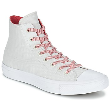 Chaussures Baskets montantes Converse CHUCK TAYLOR ALL STAR II BASKETWEAVE FUSE HI Ecru / Blanc / Rouge