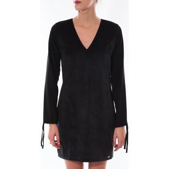 Robes Coquelicot Robe  Col V Noir 16211 Noir 350x350