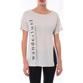 T-shirts manches courtes Coquelicot T-shirt  Beige 16406
