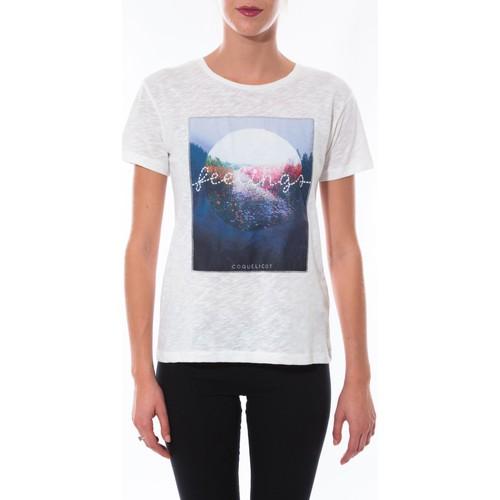 Vêtements Femme T-shirts manches courtes Coquelicot T-shirt  Blanc 16423 Blanc