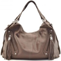 Sacs Femme Sacs porté épaule Oh My Bag Sac à main cuir femme - Modèle Arizona taupe foncé TAUPE FONCE