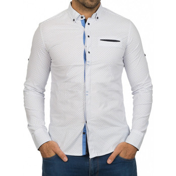 Chemises manches longues Beststyle Chemise homme classe blanche