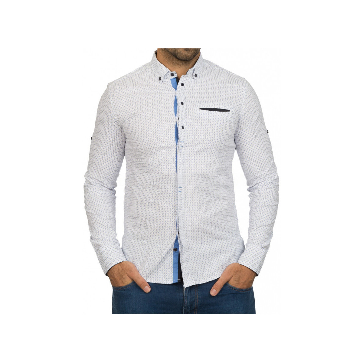 Beststyle Chemise homme classe blanche Blanc
