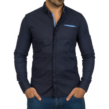 Chemises manches longues Beststyle Chemise homme stylée marine