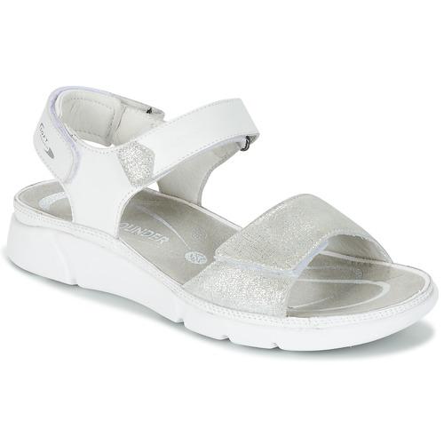 Chaussures Femme Sandales et Nu-pieds Allrounder by Mephisto TABASA Blanc / Argenté
