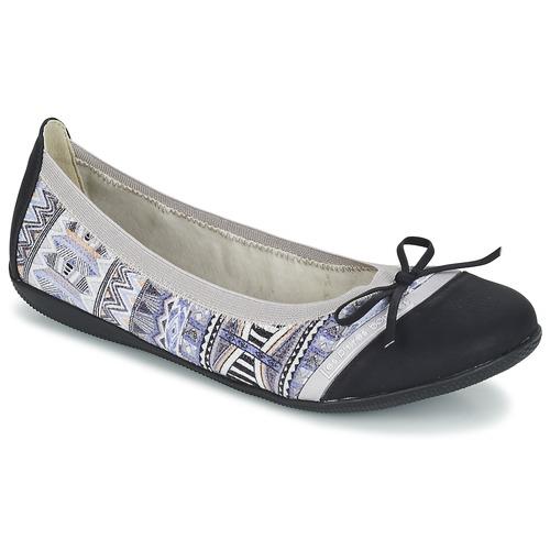 Chaussures Femme Ballerines / babies LPB Woman CAPRICE Gris / Noir