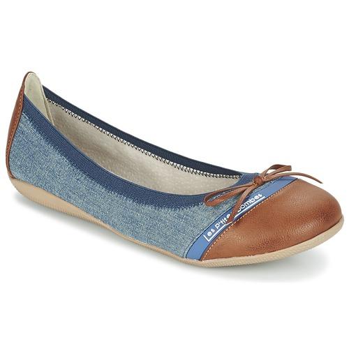 Chaussures Femme Ballerines / babies Les P'tites Bombes CAPRICE Bleu / Camel