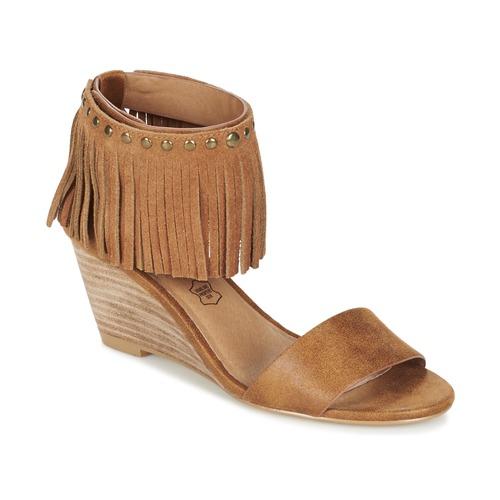 Chaussures Femme Sandales et Nu-pieds Les P'tites Bombes NADIA Camel