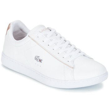 Chaussures Femme Baskets basses Lacoste CARNABY EVO 217 2 Blanc / Rose