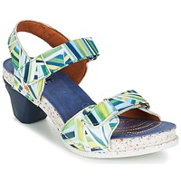 Chaussures Femme Sandales et Nu-pieds Art I  ENJOY Bleu / Vert