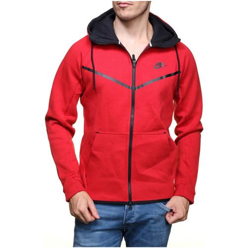 Sweats & Polaires Nike Sweat  Tech Fleece Windrunner - Ref. 805144-654 Rouge 350x350