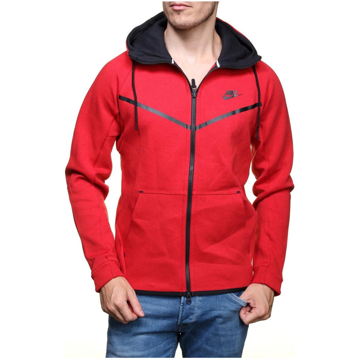 Nike Sweat  Tech Fleece Windrunner - Ref. 805144-654 Rouge