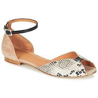 Chaussures Femme Sandales et Nu-pieds Emma Go JULIETTE Beige / Noir