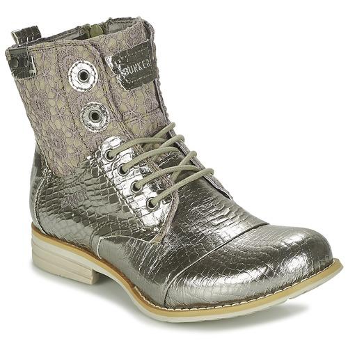 Chaussures Femme Boots Bunker SARA Argenté
