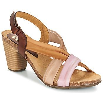 Chaussures Femme Sandales et Nu-pieds Bunker LIZ Marron / Rose