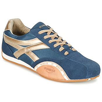 Chaussures Homme Baskets basses Bunker LEMANS Marine / Doré / Orange