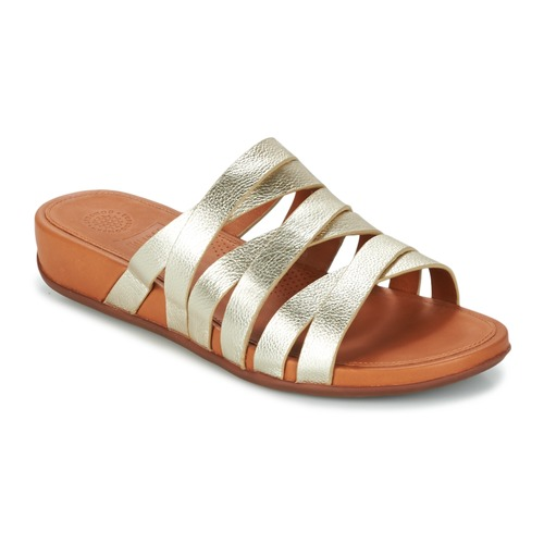 Chaussures Femme Mules FitFlop LUMY LEATHER SLIDE Doré