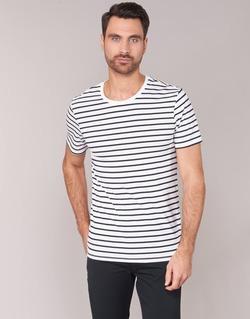 Vêtements Homme T-shirts manches courtes Benetton MAKOUL Bleu / Blanc