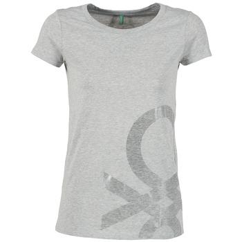 Vêtements Femme T-shirts manches courtes Benetton MADOUL Gris