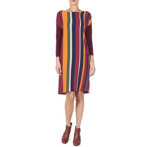 VAGODA  Benetton  robes courtes  femme  bordeaux / multicolore