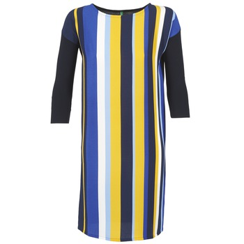 Vêtements Femme Robes courtes Benetton VAGODA Bleu / Jaune / Blanc