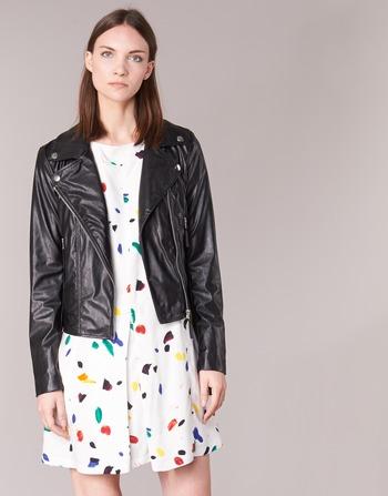 Vestes Benetton Femme CuirSynthétiques Fajoli En Vêtements Noir WDH92EI