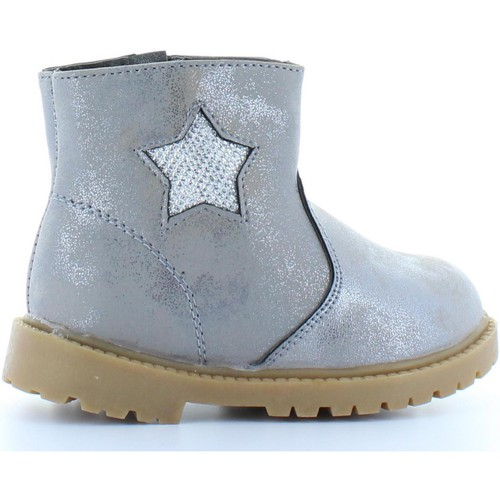 Chaussures Fille Bottines Happy Bee B167590-B1153 Gris