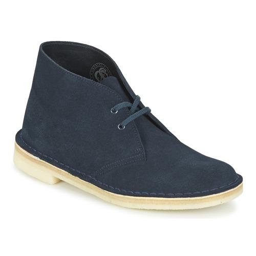 Chaussures Femme Boots Clarks DESERT BOOT Bleu