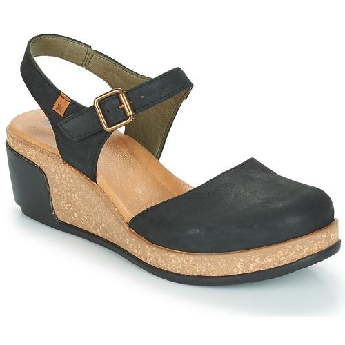 El Naturalista LEAVES Noir - Livraison Gratuite avec  - Chaussures Sandale Femme