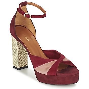 Chaussures Femme Sandales et Nu-pieds Heyraud EVELINE Rouge / Rose / Doré