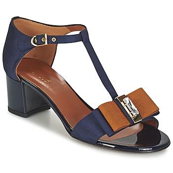 Chaussures Femme Sandales et Nu-pieds Heyraud ENAEL Bleu / Marron / Noir