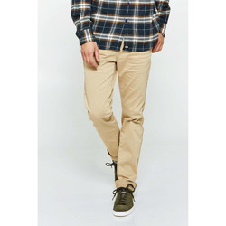Vêtements Homme Chinos / Carrots Heroseven Pantalon Chino Hero Seven Sable Homme Beige