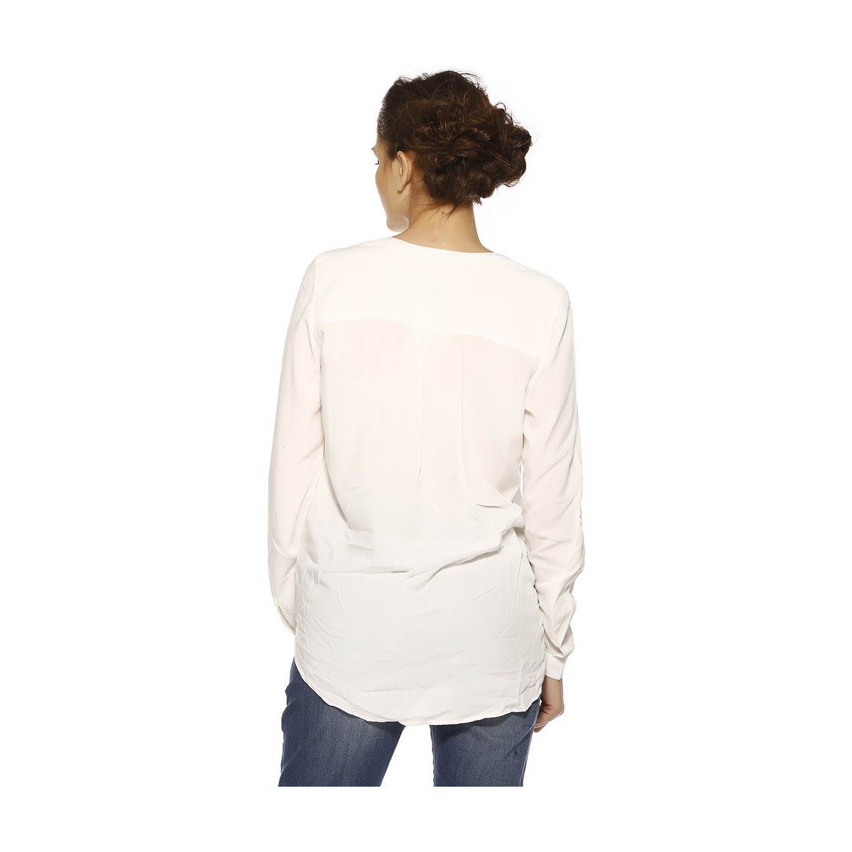 Blouses Only Chemise Femme - NEW FALLOW L/S_CLOUD DANCER Beige