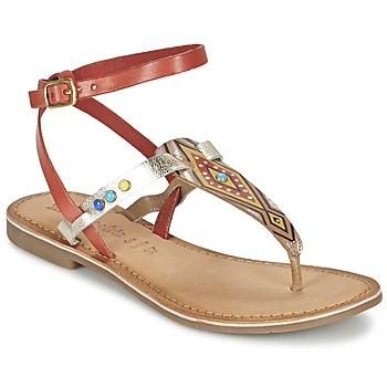 Chaussures Femme Sandales et Nu-pieds Lola Espeleta ELODIE Rouge / Argenté