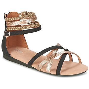 Chaussures Fille Sandales et Nu-pieds Bullboxer REVILZOA Noir / Doré