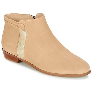 Chaussures Femme Boots M. Moustache EMMANUELLE Beige / Doré