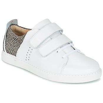 Chaussures Femme Baskets basses M. Moustache RENEE Blanc / Jacquard