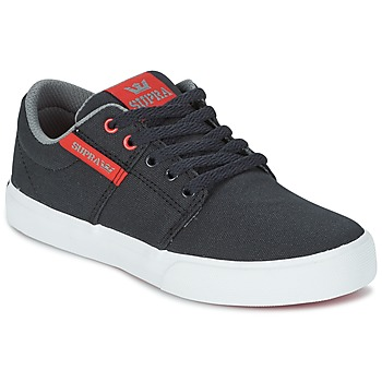 Chaussures Enfant Baskets basses Supra KIDS STACKS II VULC Noir / Rouge