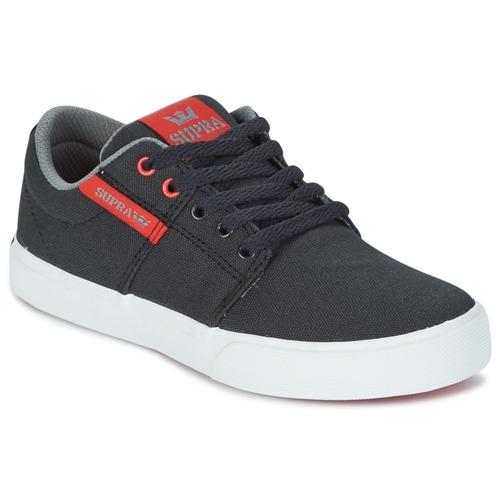 Chaussures Enfant Baskets basses Supra KIDS STACKS II VULC Noir / Rouge