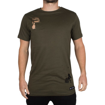 Vêtements Homme T-shirts manches courtes Hype Homme T-Shirt Body Ripped, Vert vert